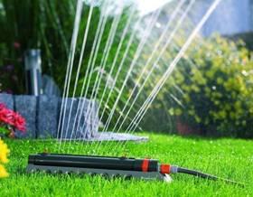 L'irrigazione del giardino in estate